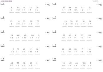 DRILLS (to replace flashcards): from 1x1 to 12x12 FOR ALL GRADES (320 pgs)