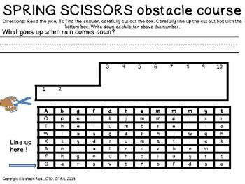 UNIQUE SCISSOR SKILLS / CUTTING OBSTACLE COURSE: Spring jokes!