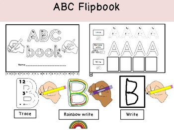 UNIQUE Uppercase Alphabet Flip Book with tabs-formation practice!