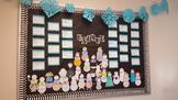 UNIQUE interactive snowmen bulletin board idea