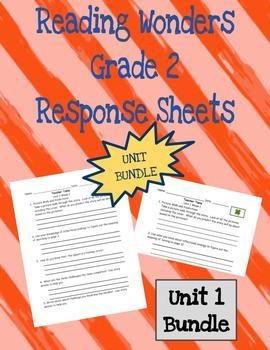UNIT 1 BUNDLE: Reading Wonders 2nd Grade Response Pages
