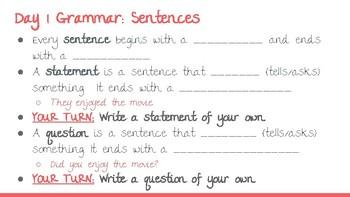UNIT 1: McGraw-Hill Reading Wonders Grammar and Vocabulary Mini-Lessons
