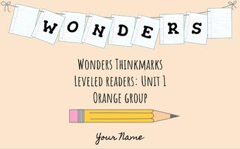 UNIT 1 (ORANGE Group) Wonders Leveled Readers DIGITAL Text Responses - Grade 5