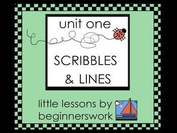 unit 1 SCRIBBLES & LINES - little lessons by Karen Smullen