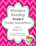 UNIT 1 Wonders Reading Grade 5 Weekly Newsletters