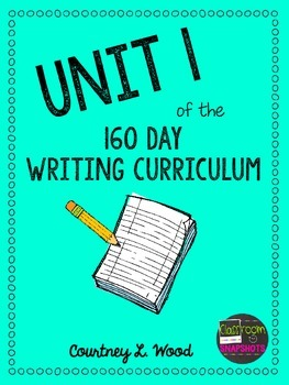 UNIT 1 of the Common Core Aligned Writing Curriculum Bundle - Year Long Plans
