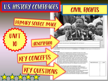 UNIT 10: CIVIL RIGHTS - U.S. History coverpage to frame each unit