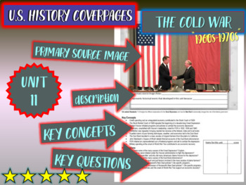 UNIT 11: COLD WAR AMERICA (1960s-70s)- U.S. History coverpage to frame each unit