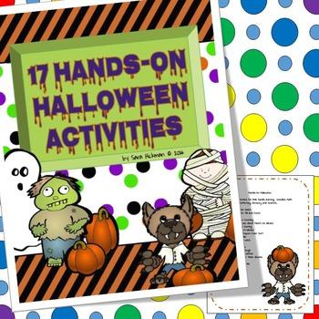 Halloween Hands On Activities for Preschool