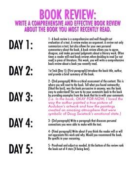 UNIT 2: 9 Weeks of Writer's Notebook Tasks