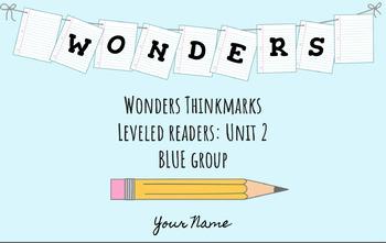 UNIT 2 (BLUE Group) Wonders Leveled Readers DIGITAL Text Responses - Grade 5