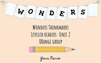 UNIT 2 (ORANGE Group) Wonders Leveled Readers DIGITAL Text Responses - Grade 5