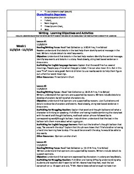 UNIT 2 ReadyGEN Unit Plan