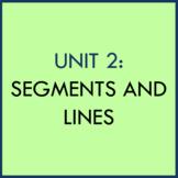 UNIT 2: SEGMENTS & LINES POWERPOINT