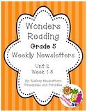 UNIT 2 Wonders Reading Grade 5 Weekly Newsletters