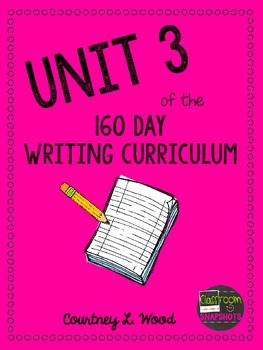 UNIT 3 of the Common Core Aligned Writing Curriculum Bundle - Year Long Plans