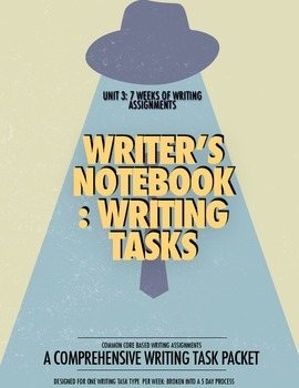UNIT 3: 7 Weeks of Writer's Notebook Writing Tasks