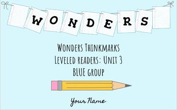 UNIT 3 (BLUE Group) Wonders Leveled Readers DIGITAL Text Responses - Grade 5