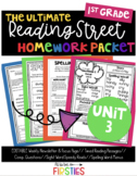 UNIT 3 Reading Street Homework 1st Grade