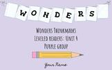 UNIT 4 (PURPLE Group) Wonders Leveled Readers DIGITAL Text Responses - Grade 5