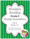 UNIT 4 Wonders Reading Grade 5 Weekly Newsletters
