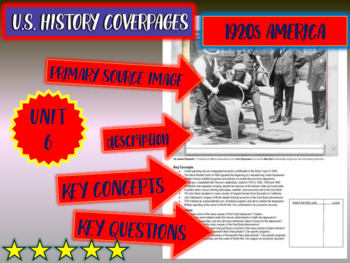 UNIT 6: 1920s AMERICA - a U.S. History coverpage to frame each unit