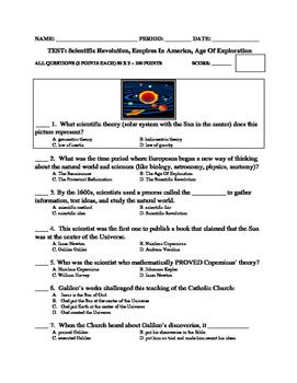 UNIT 7 LESSON 4a: Scientific Rev/Euro Explorers/Pre-Columb