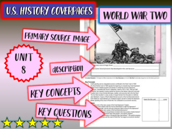 UNIT 8: THE U.S. IN WORLD WAR TWO - U.S. History coverpage to frame each unit
