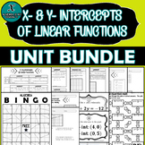 UNIT BUNDLE - ALGEBRA - X- & Y-Intercepts