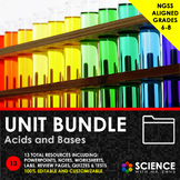 UNIT BUNDLE - Acids and Bases + Student Notes - Distance Learning