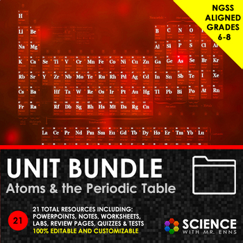 UNIT BUNDLE - Atoms and the Periodic Table