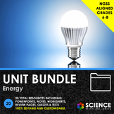 UNIT BUNDLE - Energy - Distance Learning
