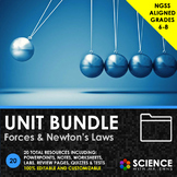 UNIT BUNDLE - Forces and Newton's Laws - Distance Learning