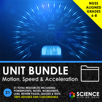 UNIT BUNDLE - Motion, Speed and Acceleration