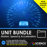 UNIT BUNDLE - Motion, Speed and Acceleration - Distance Learning