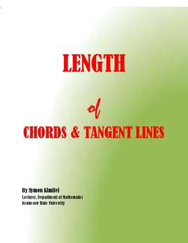 GEOMETRY: FINDING THE  LENGTH OF CHORDS & TANGENT LINES