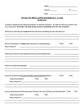 UNIT: Lion/Witch/Wardrobe by CS Lewis