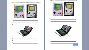 UNIT OF WORK Worksheets on HISTORY OF TECHNOLOGY for Reception, Year 1 & Year 2
