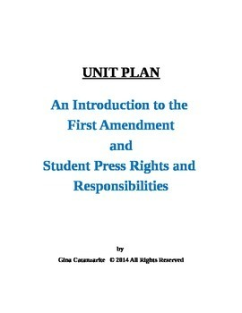 UNIT PLAN First Amendment and Student Press Rights and Res