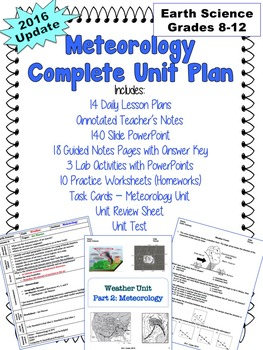 UNIT PLAN Meteorology NO PREP