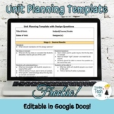 UNIT PLANNING TEMPLATE - Fully Editable in Google Docs!