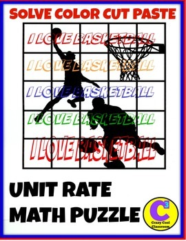UNIT RATE BASKETBALL MATH PUZZLE