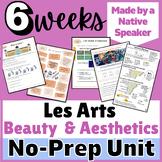 THEMATIC UNIT LESSON PLAN French Francais ART ESTHÉTIQUE  AP 3+ wks of materials