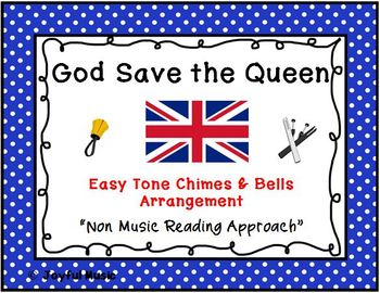 UNITED KINGDOM NATIONAL ANTHEM Easy Tone Chimes & Bells GOD SAVE THE QUEEN