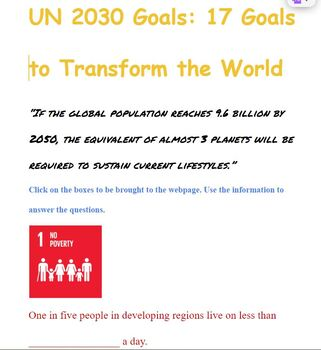 UNITED NATIONS 2030 GOALS