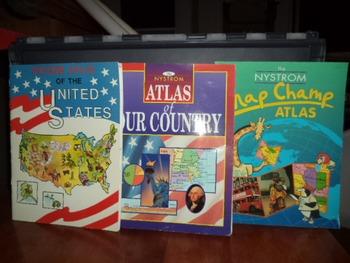 UNITED STATES ATLAS   (SET OF 3)