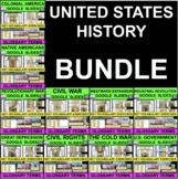 UNITED STATES HISTORY BUNDLE Glossary Vocabulary Distance