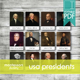 UNITED STATES PRESIDENTS • Montessori Cards • Flash Cards