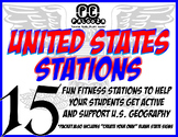 UNITED STATES STATIONS - 15 -fun fitness stations