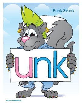 UNK (Punk Skunk) Word Buddy Poster
